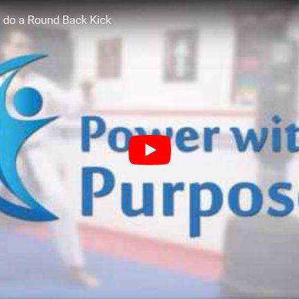 The Round Back Kick
