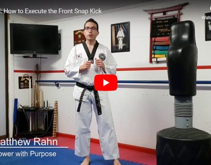 How to Carry out the Front Snap Kick