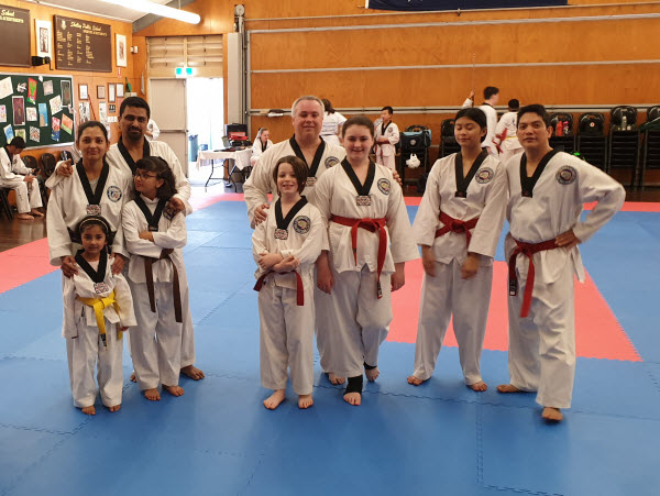 Taekwondo class for the family